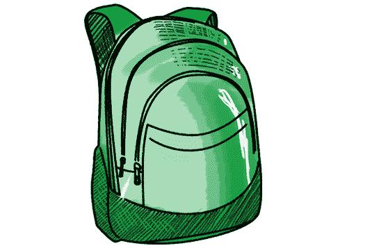 Schulrucksack gruen