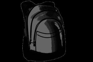 Schulrucksack schwarz