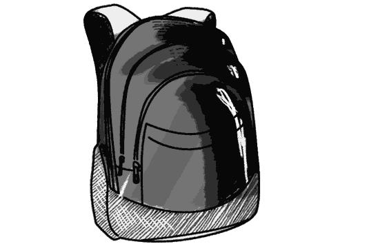 Schulrucksack schwarz weiss