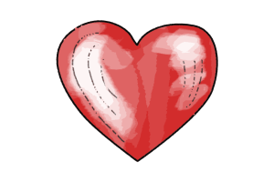 Herz Heart Schulranzen Motiv