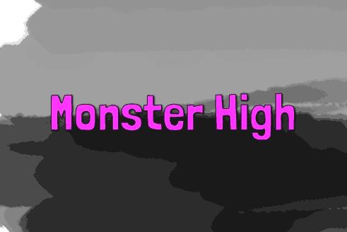 Monster High Schriftzug Schulranzen