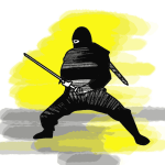 Ninja Ninjafigur Schulranzen Motiv