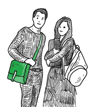 Schultasche zum umhaengen fuer Jugendliche