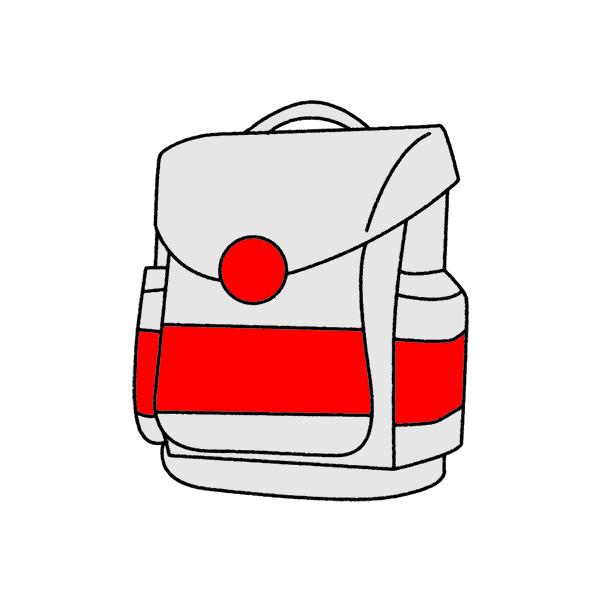 Sicherheitsflaechen Schulranzen retroreflektierend und floureszierend