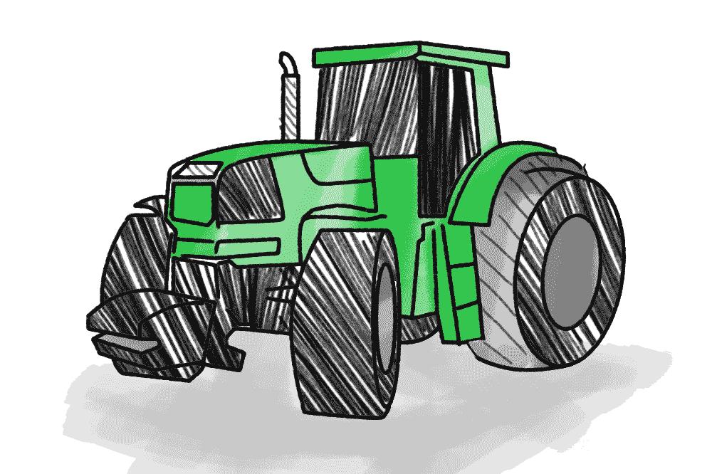 Traktor Schulranzen Motiv