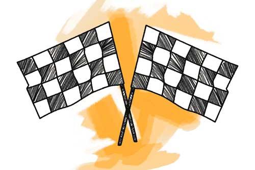 24h Rennen Race Schulranzen Motiv