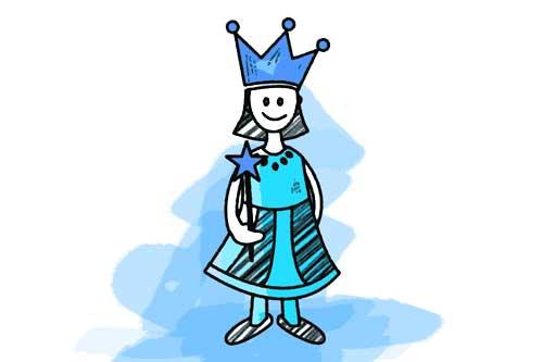 Eisprinzessin blau Schulranzen Motiv
